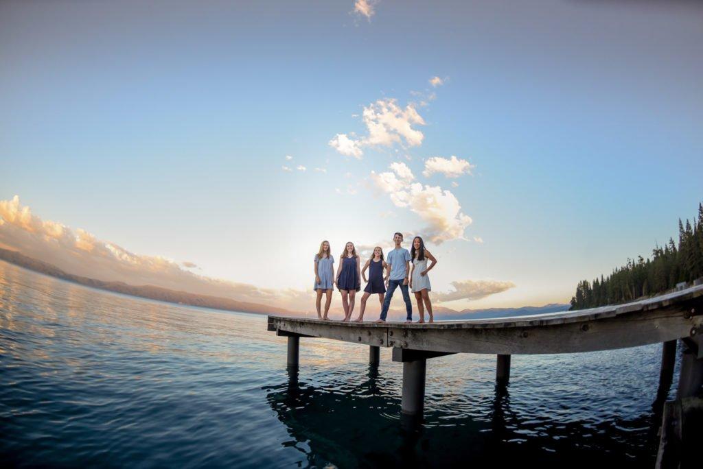 summer lake tahoe family photos