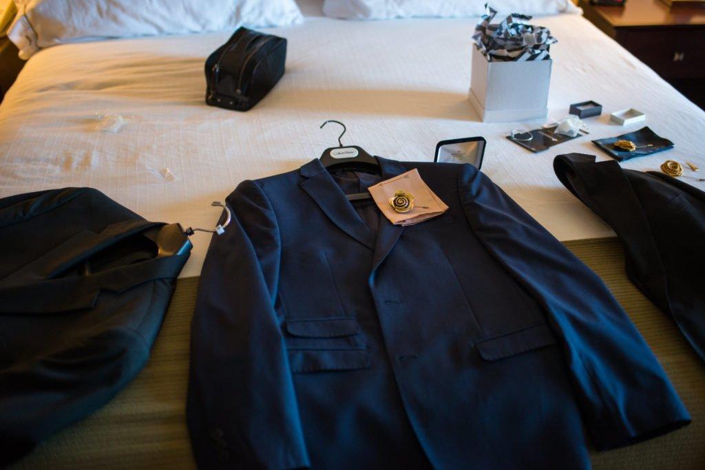 Navy Blue Grooms Suite