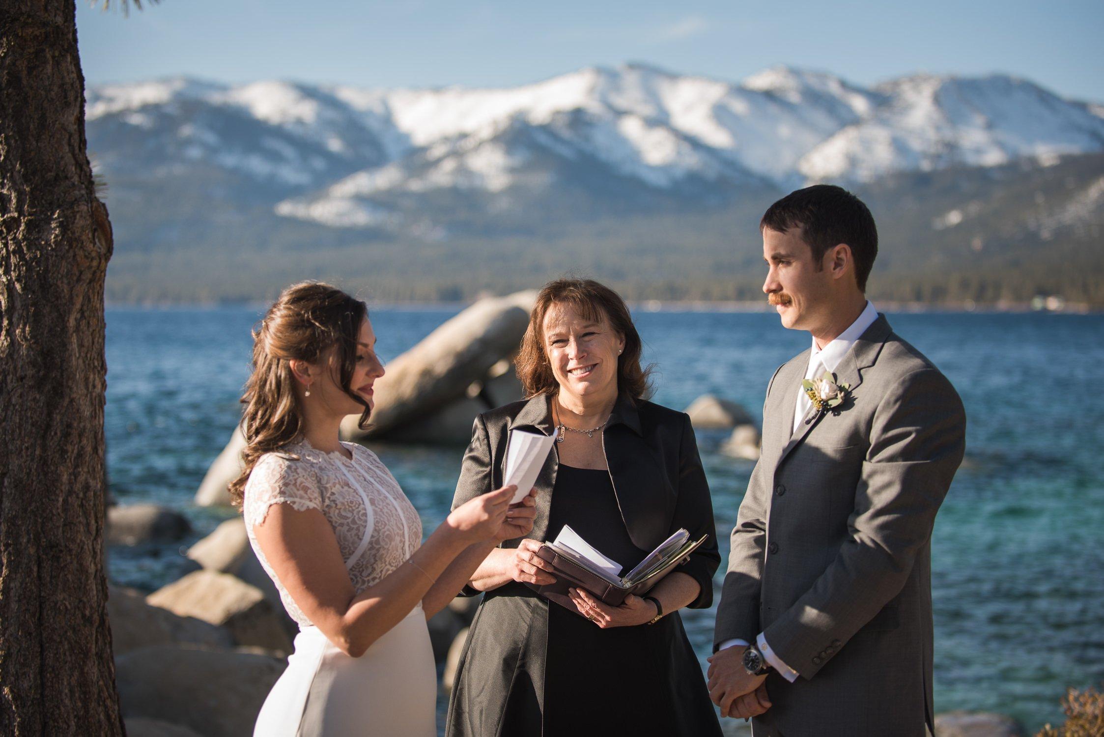 Lake Tahoe Wedding Ceremony