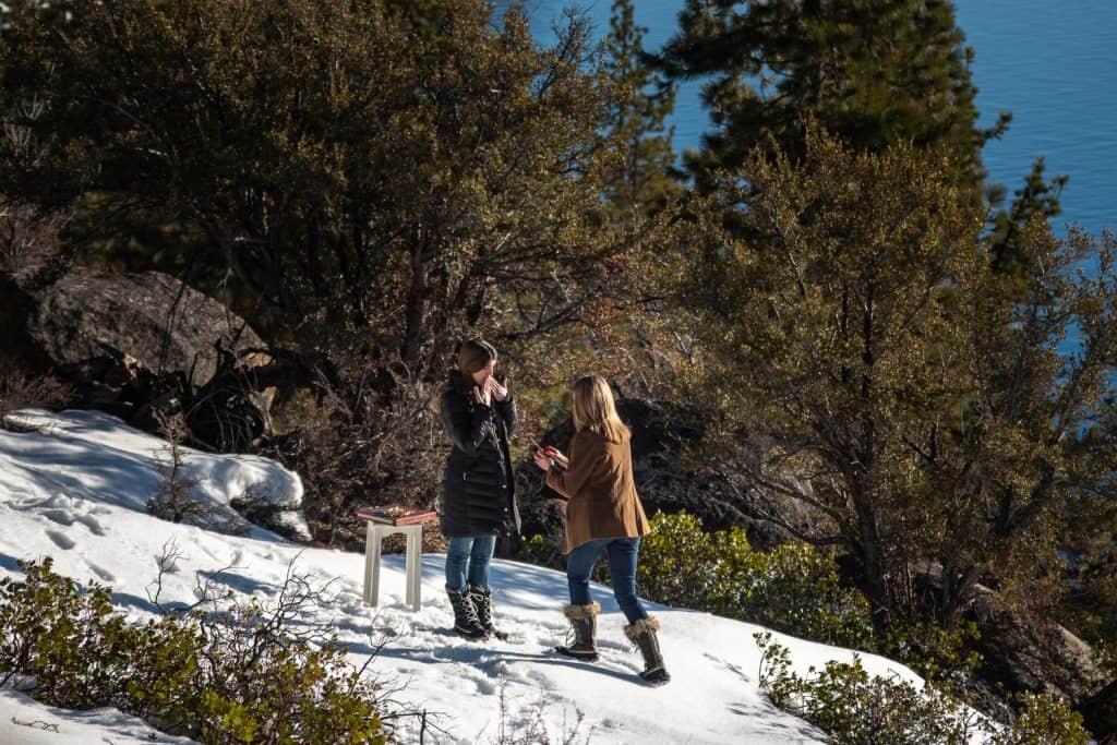 Winter Proposal Photo
